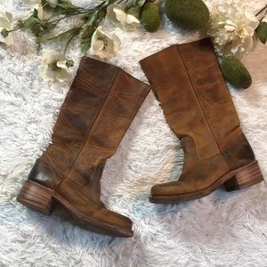 Frye Knee High Heeled Boots